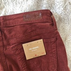 Ag Adriano Goldschmied Pants - AG 'The Legging' Super Skinny Fit Cords